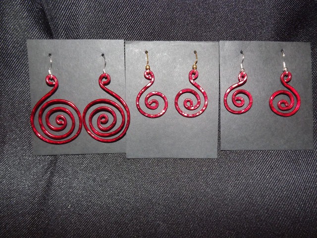 Medium Hammered Wire Earring -- Pick your Color