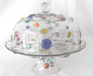 Cake Plate w/Dome & Punch Bowl