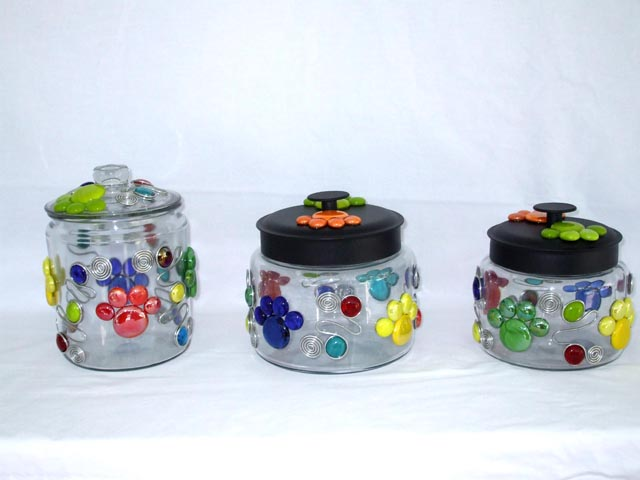 Pet Jar  - 64 oz with Black Metal lid (1/2 gallon)