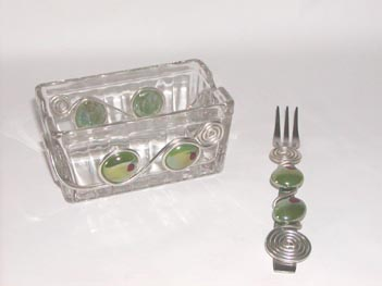 Olive Container w/ Olive Fork